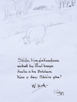 Die Kuh auf dem Feld nacWilhelm Busch